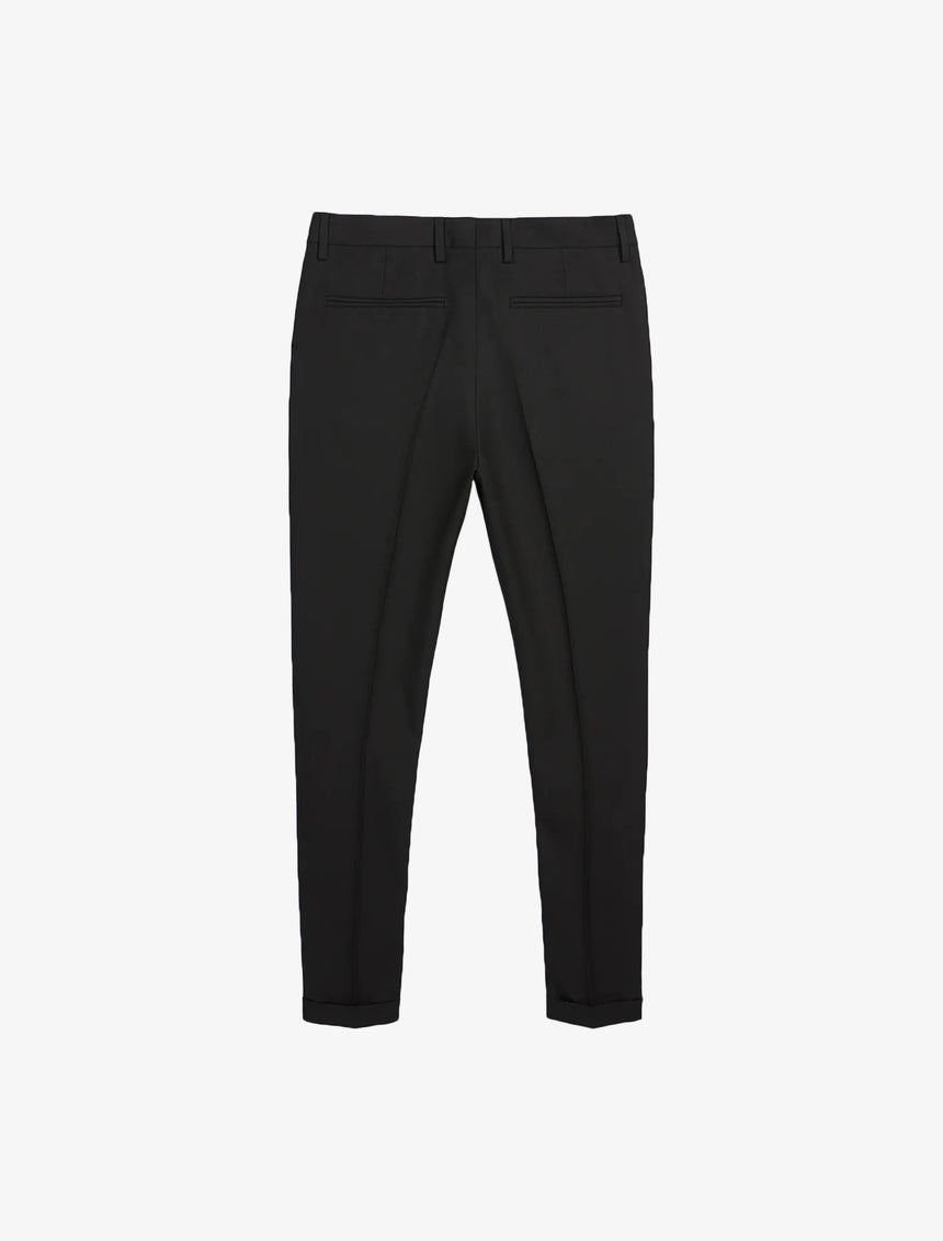 TEXTURED SUIT PANTS - Black