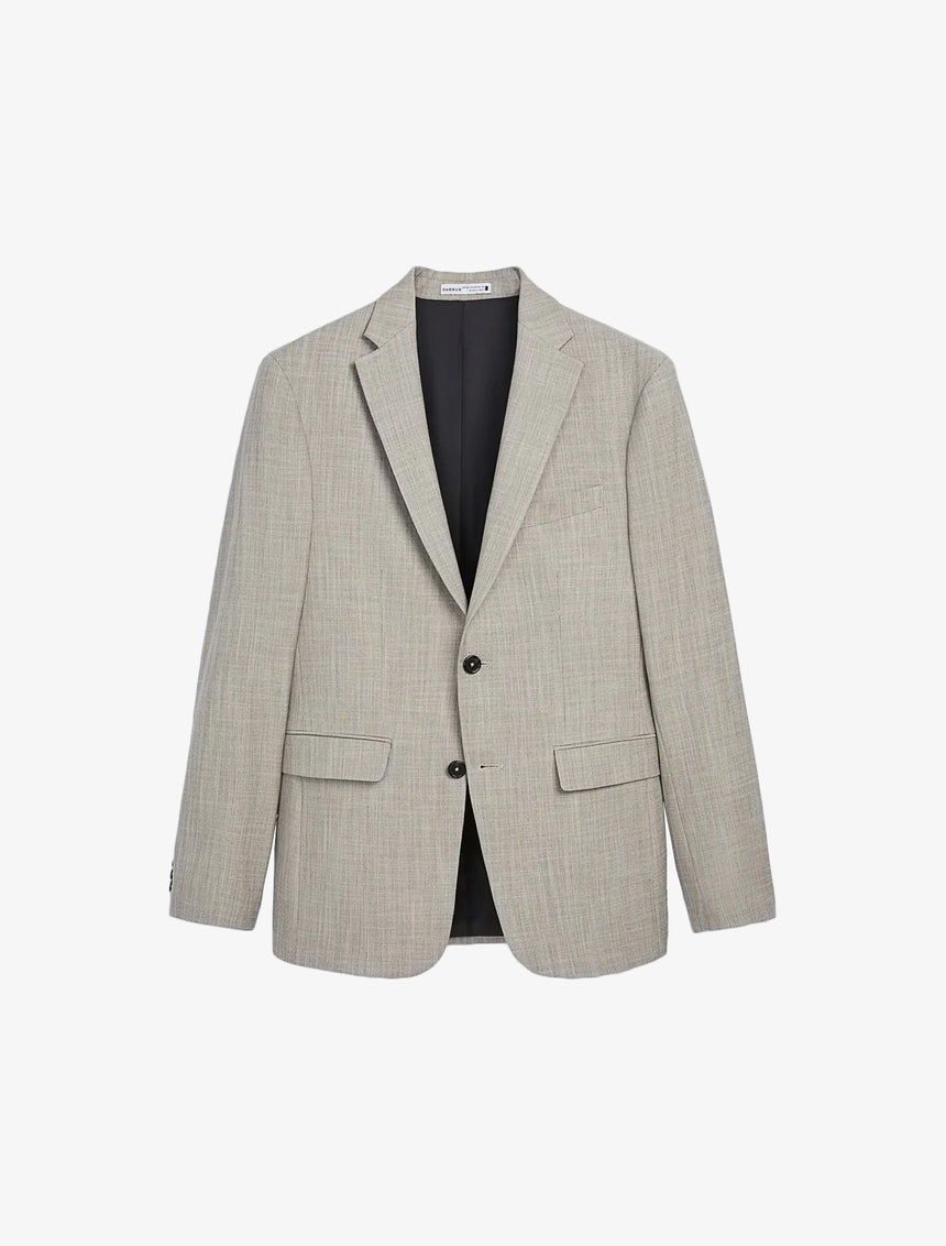 TEXTURED SUIT JACKET - Taupe Brown