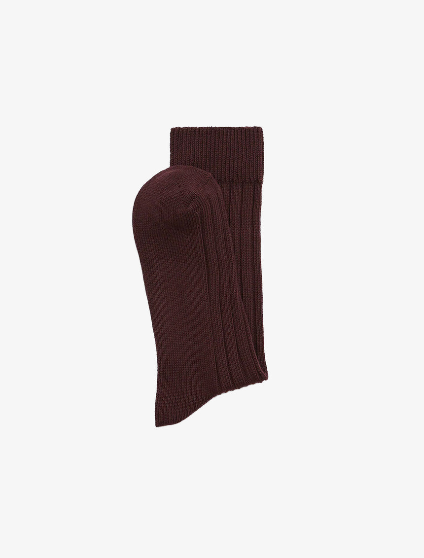 TEXTURED WEAVE RIBBED SOCKS