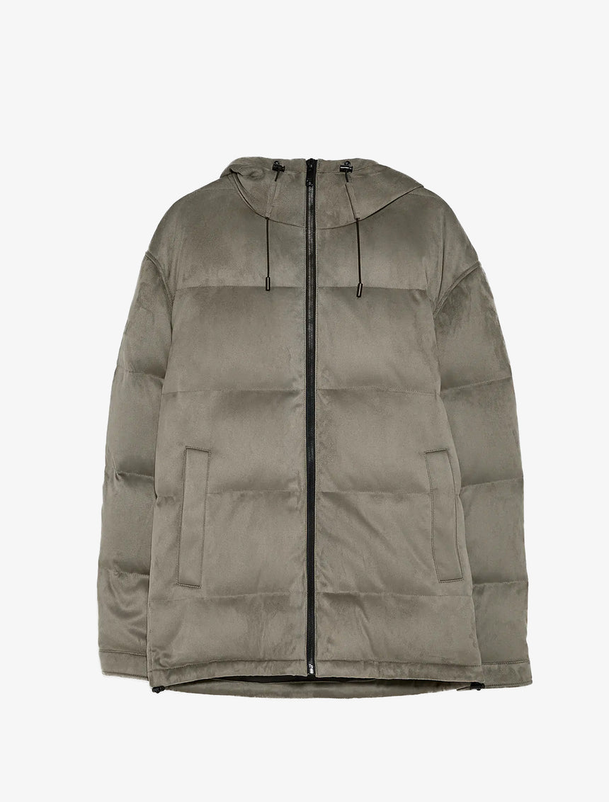 FAUX SUEDE DOWN JACKET