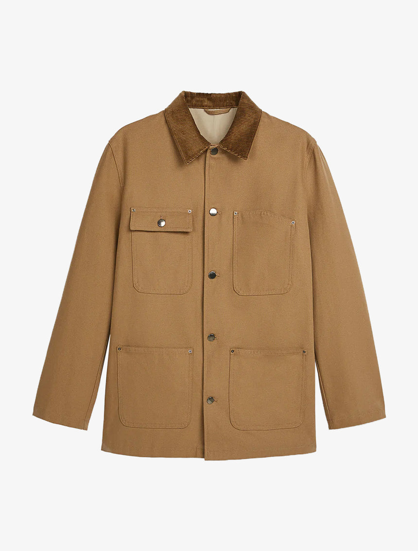 UTILITY JACKET WITH CONTRASTING CORDUROY