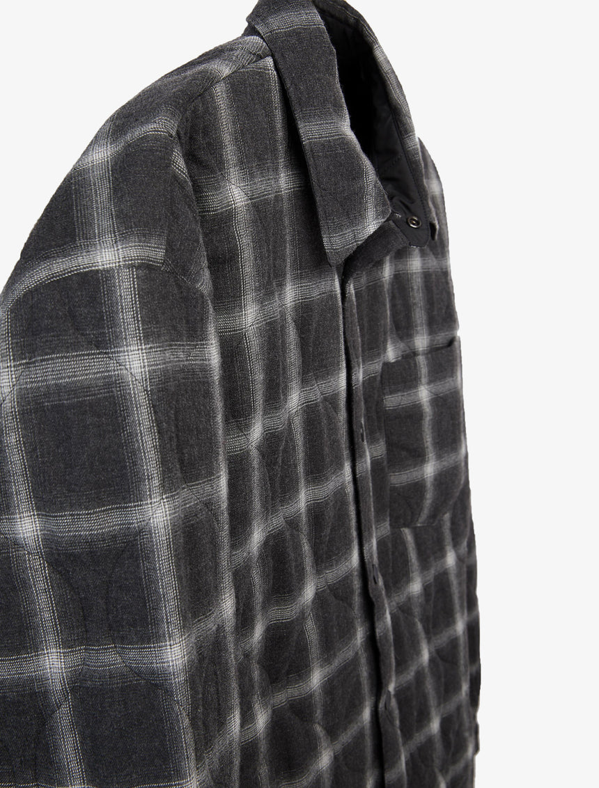 PLAID PADDED OVERSHIRT