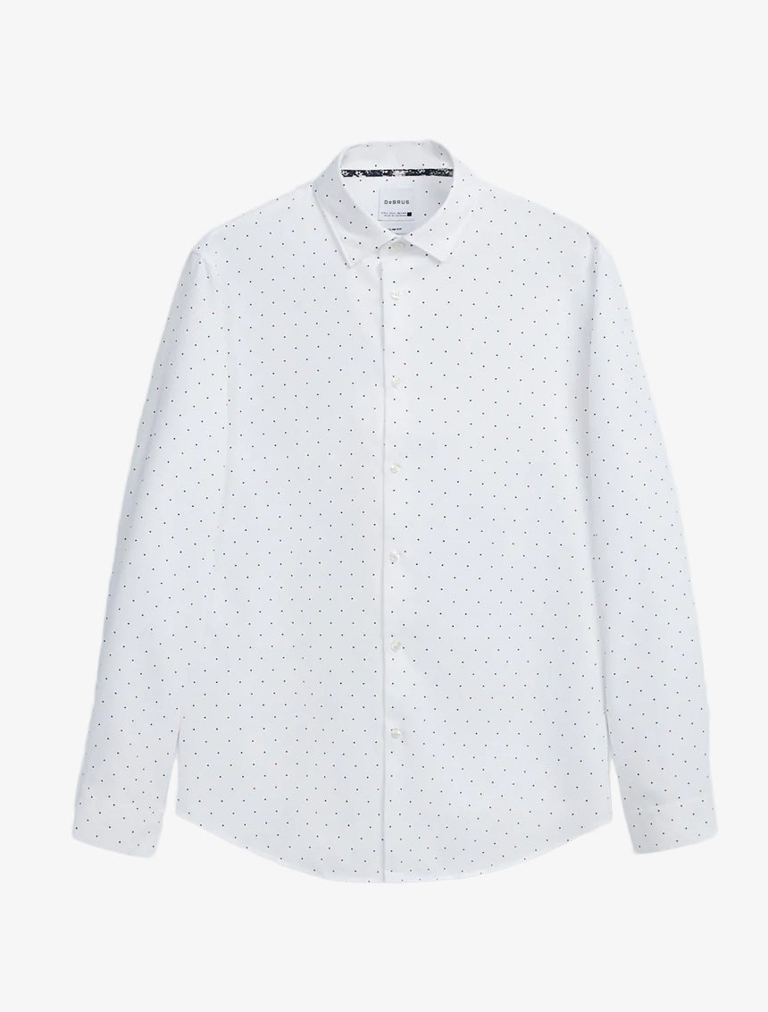 EASY CARE DOTTED TEXTURED SHIRT