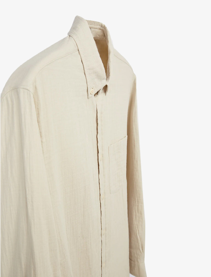 WRINKLE EFFECT STRUCTURED SHIRT