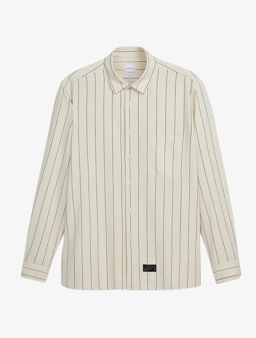 TEXTURED WEAVE STRIPED SHIRT
