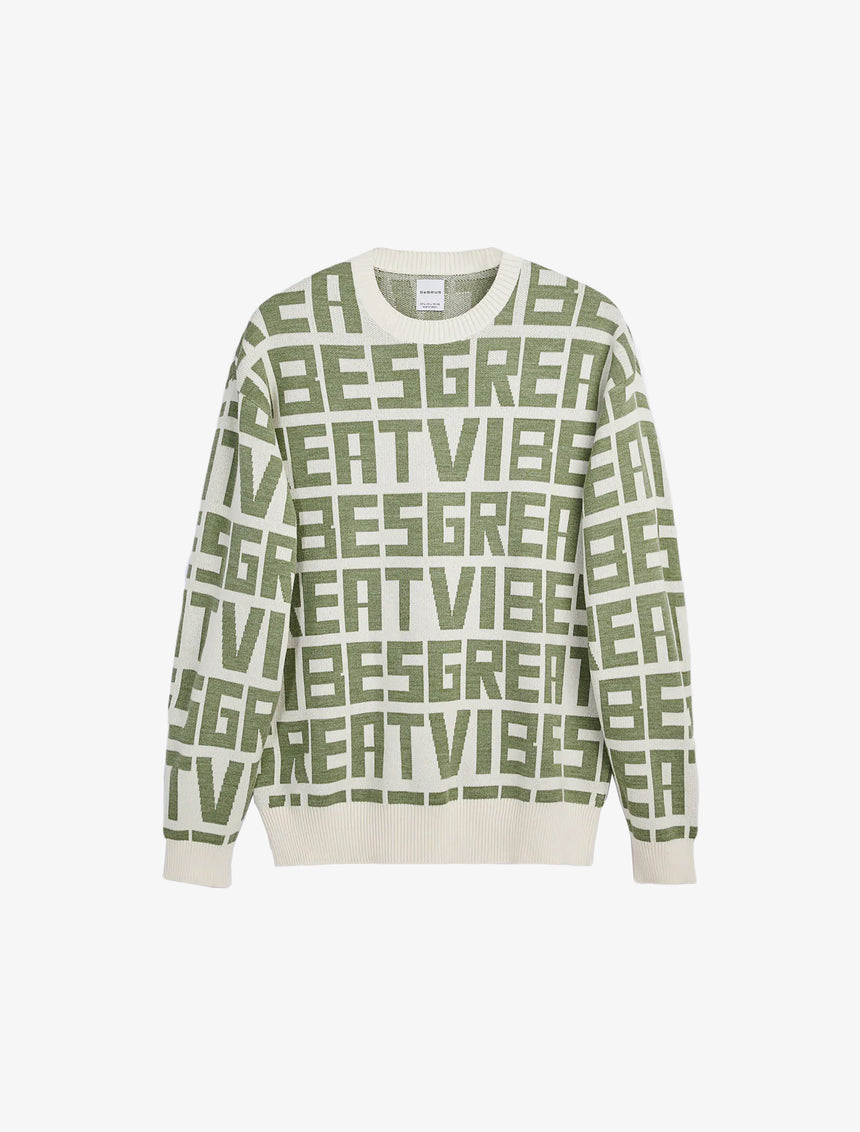 JACQUARD SWEATER WITH TEXT