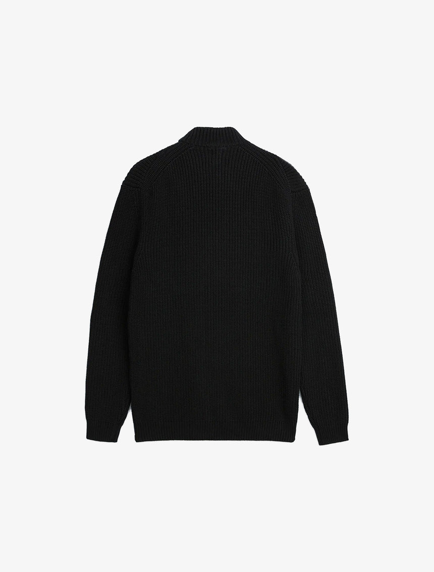 MOCK NECK STRUCTURED SWEATER