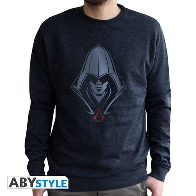 "Abysse Apparels ASSASSIN'S CREED - Sweat vintage - ""Générique"" homme used navy"