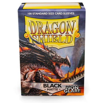 Arcane Tinmen Card Dragon Shield Matte - Non-glare - Black Amina (100 Sleeves)