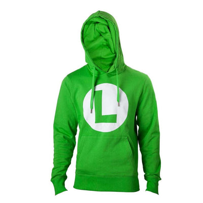 Difuzed Apparels Nintendo - Green Hoodie with L logo in front
