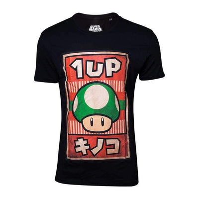 Difuzed Apparels NINTENDO - Propaganda Poster 1-UP Mushroom T-Shirt