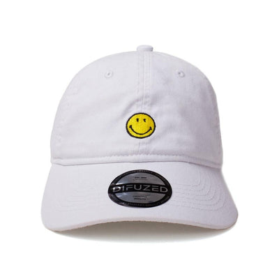 Difuzed Apparels Smiley White Cap