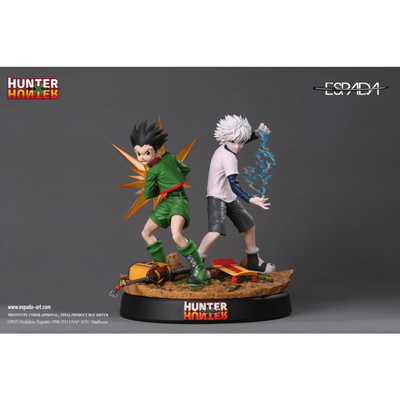 Espada Art Resin Statues Hunter X Hunter Gon Freecss And Killua Zoldyck by Espada Art