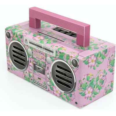 GPO Novelty Bronx BT Portable Speaker - Floral Pink