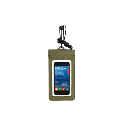 Kikkerland Novelty Green Waterproof Phone Sleeve
