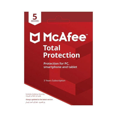 McAfee Digital Currency McAfee Total Protection (5 Devices - 3Yrs)
