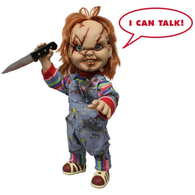 Mezco Toys PVC Figures CHILD'S PLAY - Chucky Bad Guy Sonore mega 38cm ! REPROD