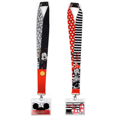 monogram Novelty Minnie Deluxe Lanyard with Card Holder