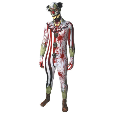 Morphsuits Apparels Jaw Dropper Clown Morphsuit Adult