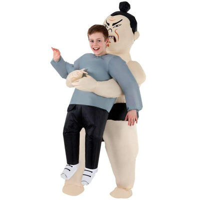Morphsuits Apparels Kids Sumo Pick Me Up Inflatable Costume