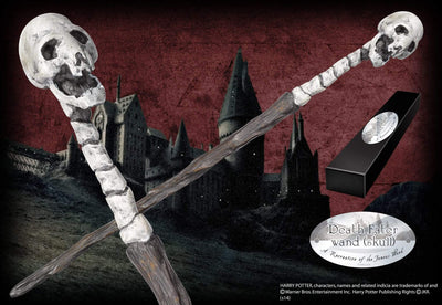Noble Collection Death Eater Character Wand – Skull