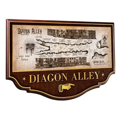 Noble Collection Harry Potter Diagon Alley Wall Plaque