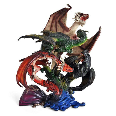 Noble Collection Figure HP- Dragons of The First Task Sculpture