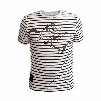 Playsmart Apparels Crew Neck Tee W/Stripe And Puff Print : Genie
