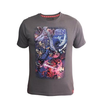 Playsmart Apparels R/N TEE W/ DISTRESSED PRINT AND HIGH DENSITY : X-MEN