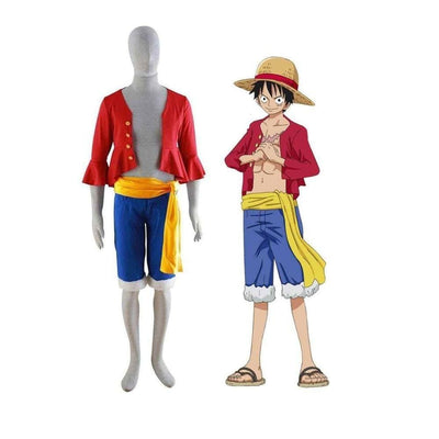 The Little Things Apparels One Piece Monkey D Luffy Mens Medium with Hat