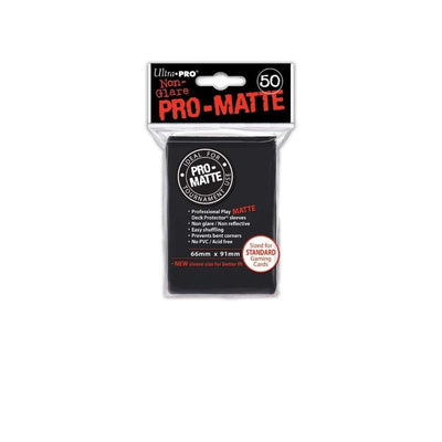 Ultra Pro Standard Sleeves - Pro-Matte - Non Glare - Black (50 Sleeves)