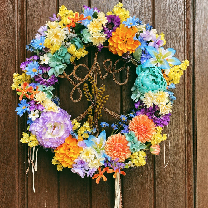 Peace, Love, & Irie Wreath