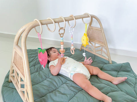 Rattan Play Gym Frame | Kathy's Cove | Designed in Singapore | Shop Rattan Furniture and Rattan Toys online