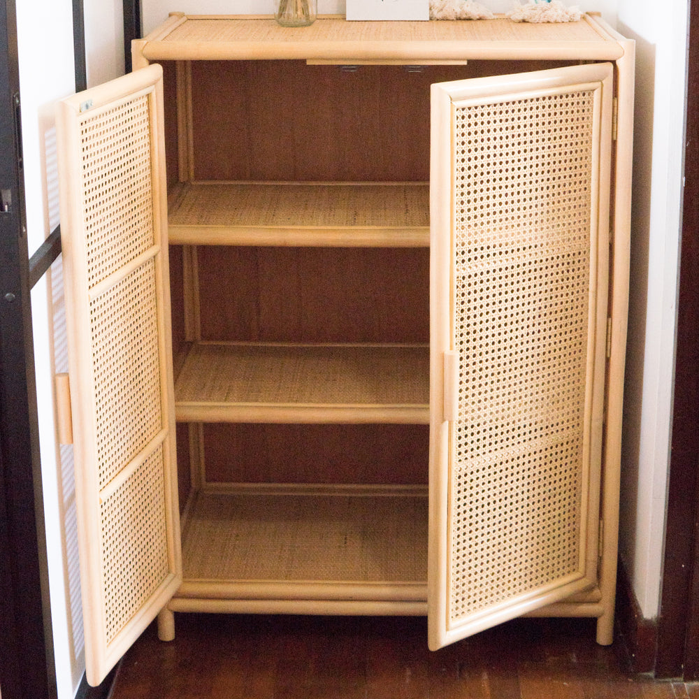 Agatha's Two Door Storage Cabinet | Buy Rattan Furniture and Rattan Toys Online | Kathy's Cove