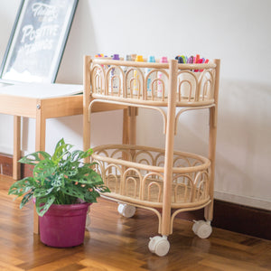 Ellie's Organising and Crafts Cart | Shop Rattan Toys & Furniture Online | Kathy's Cove