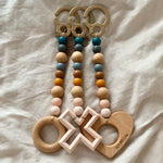 Hello Little Chompers 3-Piece Play Gym Teether Toys (Earthy Blues) | Shop Kathy's Cove | Rattan Toys and Furniture Online