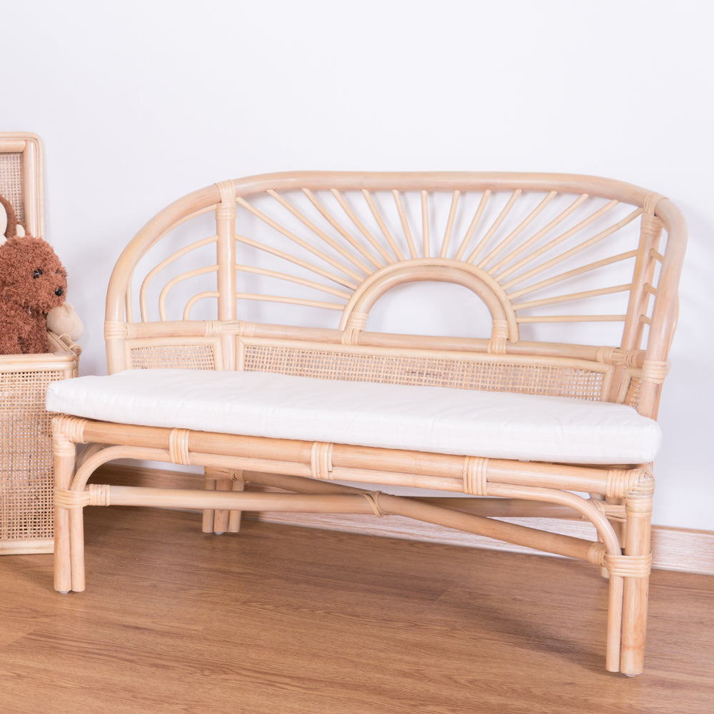 Hope's Sunrise Reading Bench with Cushion | Buy Rattan Furniture and Rattan Toys Online | Kathy's Cove