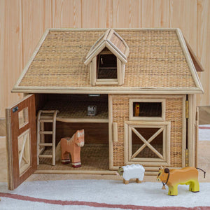 Noah's Animals Barn and Farmyard | Shop Rattan Toys & Furniture Online | Kathy's Cove