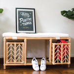 Pete's Storage and Shoes Bench with Cushion | Shop Rattan Furniture and Toys Online | Kathy's Cove