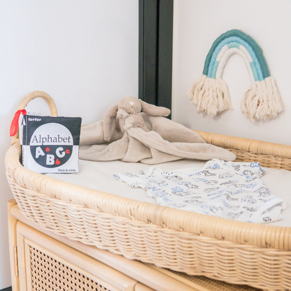 Samuel's Baby Changing Basket with Cushion  | Buy Rattan Furniture and Rattan Toys Online | Kathy's Cove