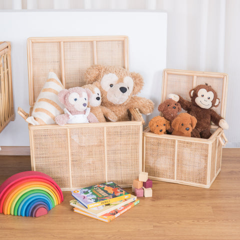 Spencer's Toys & Storage Rattan Trunk (Small & Large Bundle)
