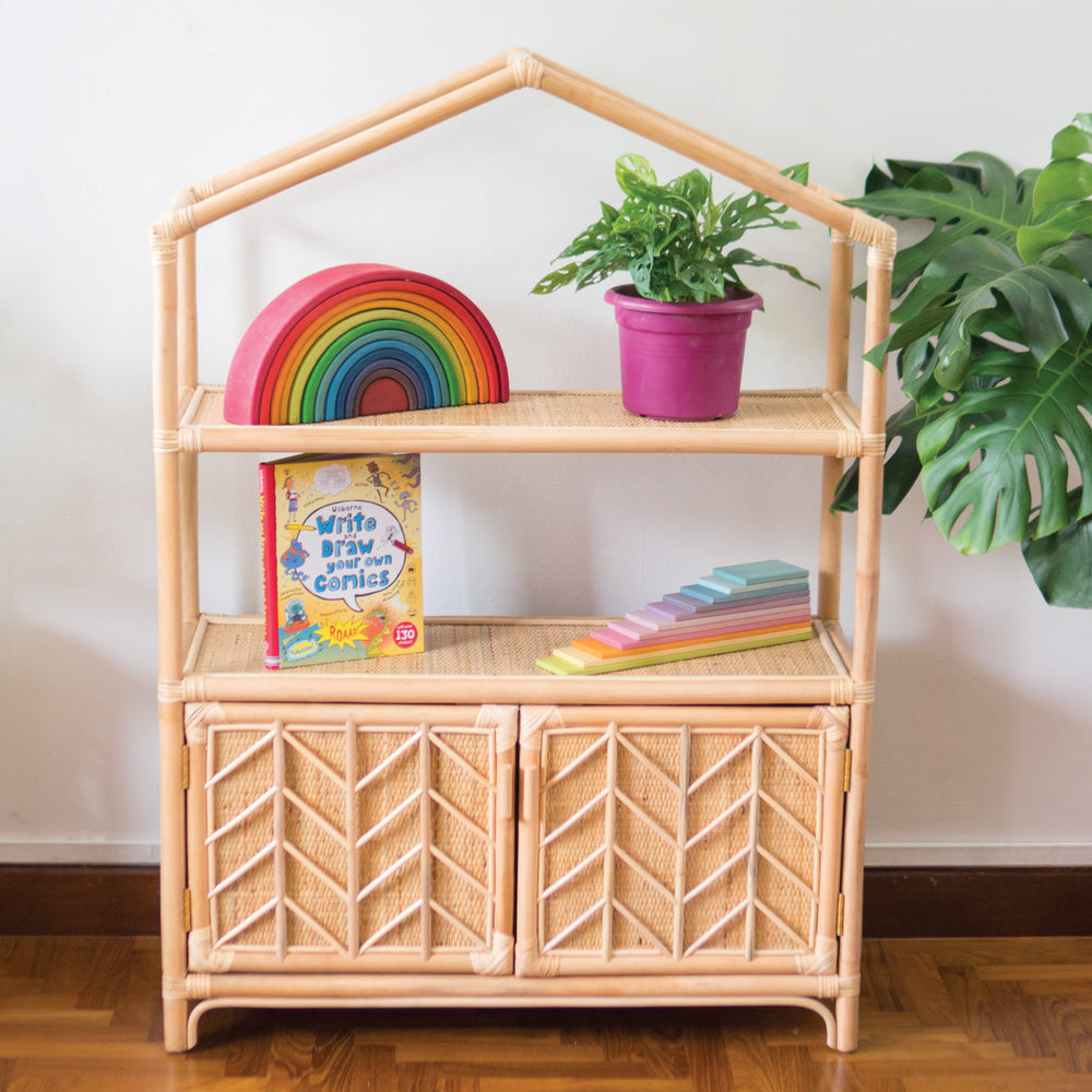 Stef's Cosy Home Display and Storage House Shelf | Shop Rattan Furniture and Toys Online | Kathy's Cove