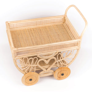 Tabby's Afternoon Tea and Snacks Cart Trolley | Shop Rattan Furniture and Toys Online | Kathy's Cove