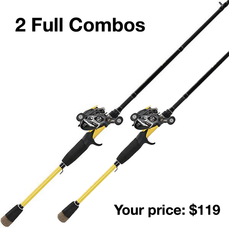 (TWO COMBOS) Wright & McGill Skeet Reese Pro Series Elite Baitcasting Combo