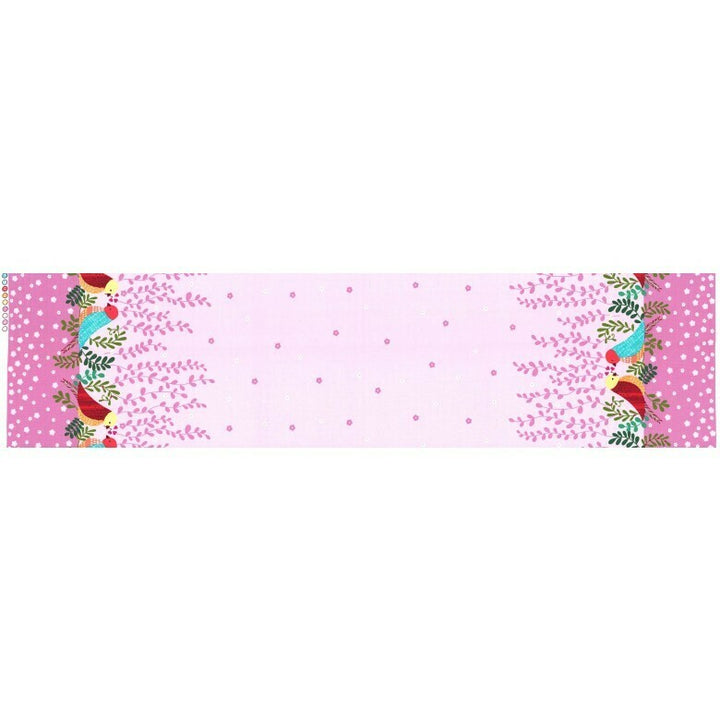 Michael Miller Fabric - Love Nest - Berry (Double Border Print)-Little Miss Sew n Sew