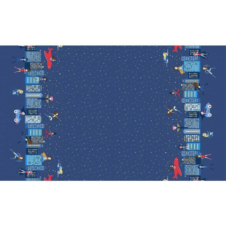 Michael Miller Fabric - Make a difference - Hero (Double border)-Little Miss Sew n Sew