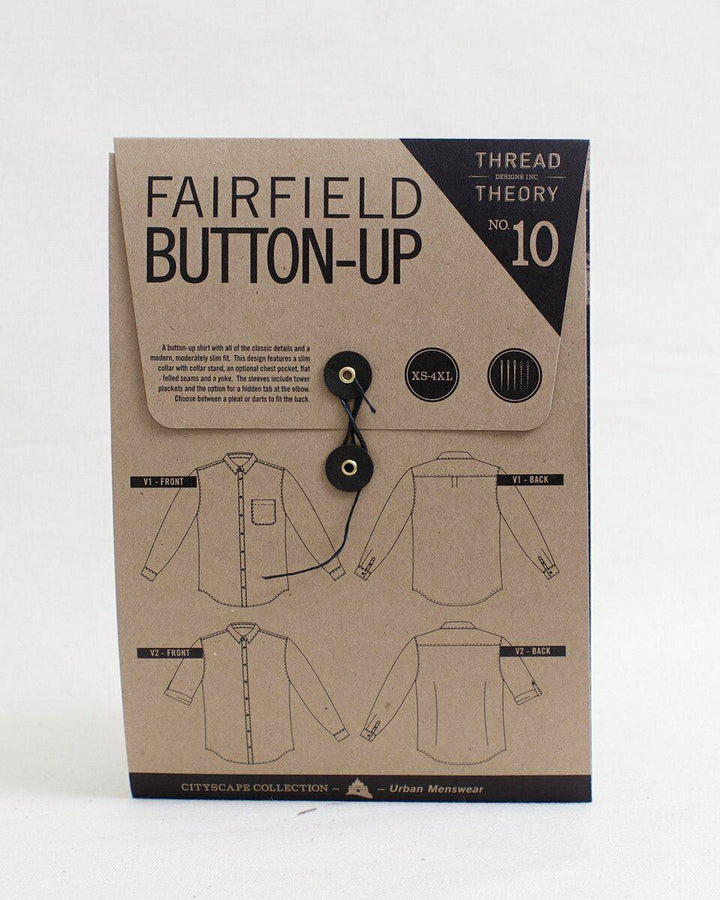Thread Theory - Fairfield Button-up Shirt Tissue Pattern-Little Miss Sew n Sew