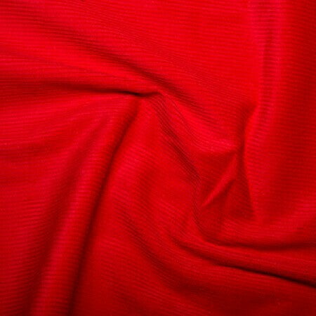 Corduroy - Cotton 8 Wale - Red-Little Miss Sew n Sew