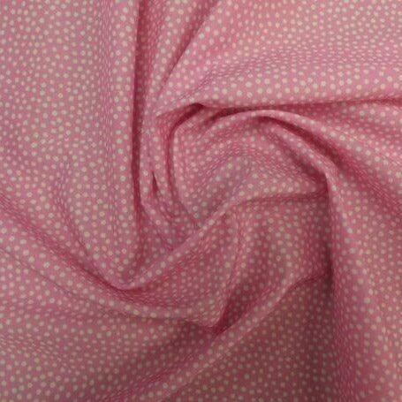 Lady McElroy - Dotty About Dots - 100% Cotton 'Marlie' Lawn Pink Digital Print-Little Miss Sew n Sew