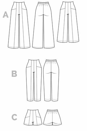 Pietra Pants & Shorts Pattern By Closet Core-Little Miss Sew n Sew